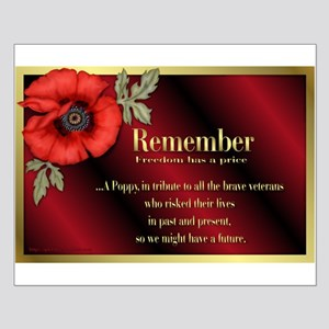 Remember Poppy Small Poster